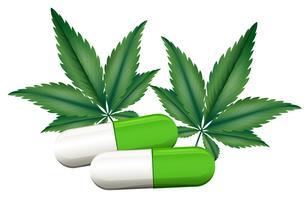 Une capsule de marijuana vecteur