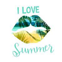 Imprimé d'été sur plage tropicale avec slogan pour t-shirts, affiches, cartes et autres usages.