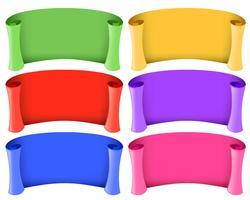 Modèle de bannière en six couleurs