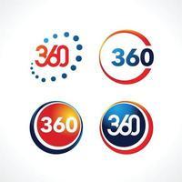 pack de logo 360 vecteur