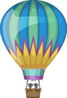 montgolfière en style cartoon isolé vecteur