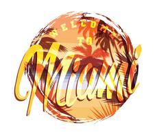 T-shirt imprimé estival de plage tropicale avec slogan vecteur