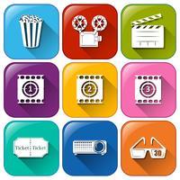 Icônes de marathon de film