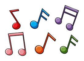 Affronte l'idiome de la musique vecteur