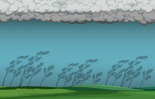 Scène de tempête nature vecteur