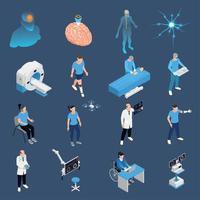 icônes de neurologie mis en illustration vectorielle vecteur