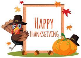 concept de carte de joyeux thanksgiving