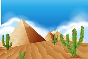 Pyramide au désert vecteur
