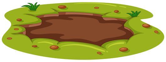 Flaque boueuse au sol