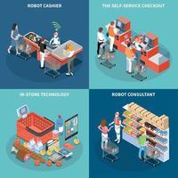 boutique technologie 2x2 design concept illustration vectorielle vecteur