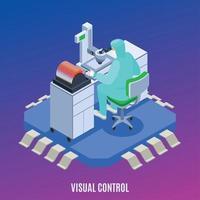 illustration vectorielle de production de semi-conducteurs concept isométrique vecteur