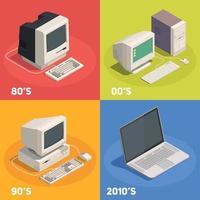 rétro dadgets 2x2 concept design illustration vectorielle vecteur