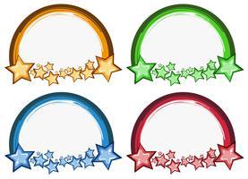 Création de logo avec anneaux et étoiles vecteur