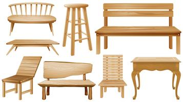 Différents modèles de chaises en bois