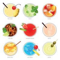 illustration vectorielle de cocktails haut de gamme collection réaliste vecteur
