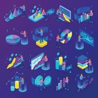 Business Analytics icons set vector illustration