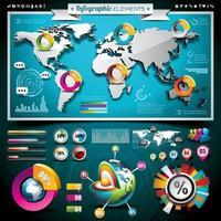 vecteur d'éléments graphiques d'informations