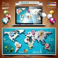 vecteur de conception infographique