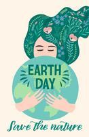 Jour de la Terre. Conception de vecteur. vecteur