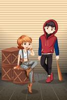 Adolescent urbain avec caisse