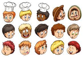 Un groupe de visages vecteur