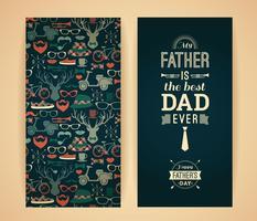 Carte de fête des pères heureux dans un style rétro.