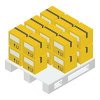 boîte en carton logistique vecteur