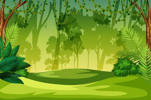 Un paysage de jungle verte vecteur