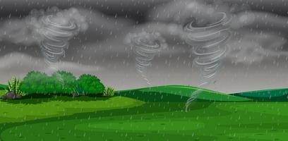 Une tempête la nuit vecteur