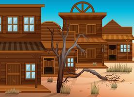 Styles occidentaux de bâtiments en ville vecteur