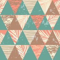 Tendance motif exotique sans soudure avec des éléments palmiers et géométriques.