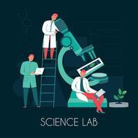 illustration vectorielle de composition de personnes de laboratoire scientifique vecteur