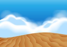Illustration d'une scène de dunes de sable