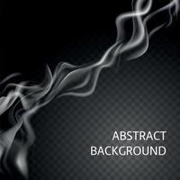 illustration vectorielle de composition de fumée réaliste vecteur