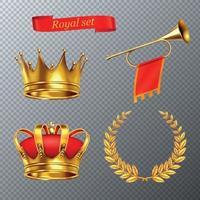 illustration vectorielle ensemble royal vecteur