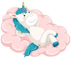 Licorne gisait sur le nuage