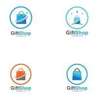 boutique de cadeaux logo symbole modèle conception emblème créatif symbole, icône vecteur