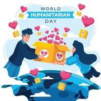 journée mondiale de l'aide humanitaire avec concept d'aide vecteur