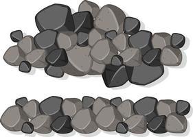 Groupe de pierres de granit sur fond blanc vecteur