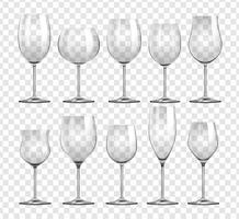 Différents types de verres à vin vecteur