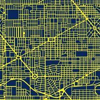 la nuit, le néon, la carte violette de la ville est une vecteur