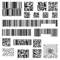 ensemble de modèles abstraits de codes à barres de codes à barres de scanner vecteur
