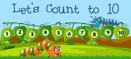 Comptons le nombre à dix vecteur