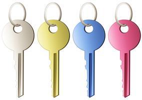 Ensemble de clés vecteur