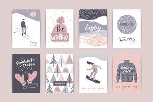Jeu de cartes d'hiver créatif artistique.