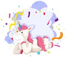 Un thème de fête de personnage de licorne