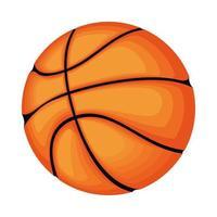 icône isolé sport ballon de basket-ball vecteur