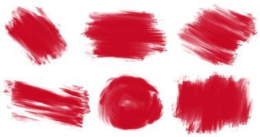 Peinture rouge vecteur
