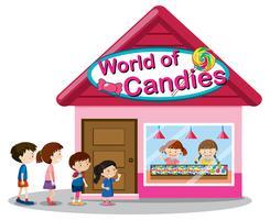 Monde du magasin de bonbons