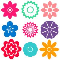 Modèles floraux vecteur